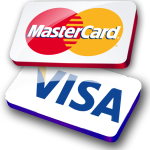 We accept Mastercard and Visa